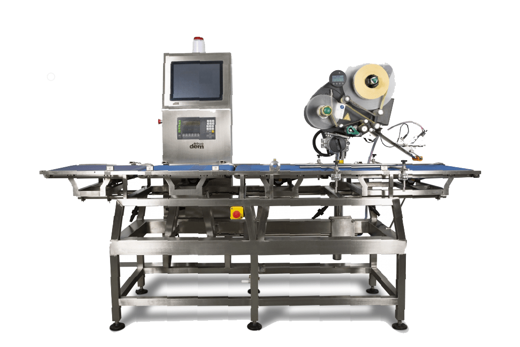 automatic in line check weigher and label applicator