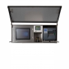 Wall mounted stainless steel cabinet for food manufacturing equipment