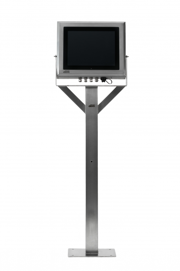 Stainless Steel Touchscreen PC Enclosure on Pedestal